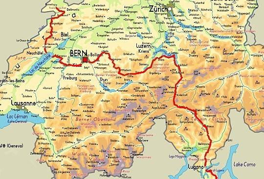 Band 2: Trans Swiss Trail 9783039020324 Luc Hagmann AT-Verlag Wanderland Schweiz  Lopen naar Rome, Meerdaagse wandelroutes, Wandelgidsen Zwitserland