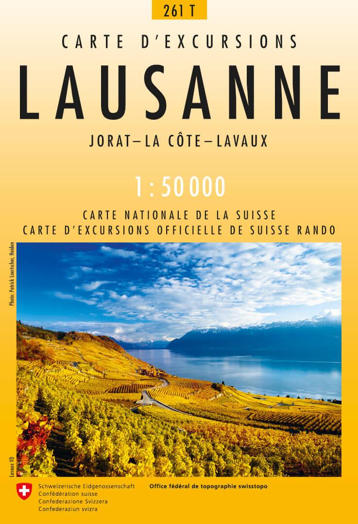 261T  Lausanne [2007] 9783302302614  Bundesamt / Swisstopo SAW 1:50.000  Wandelkaarten Berner Oberland, Basel, Jura, Genève
