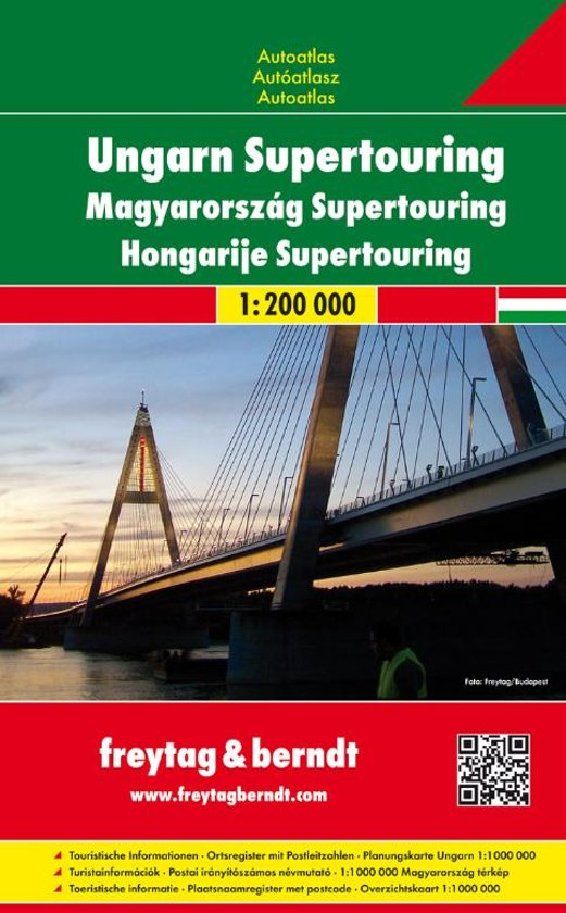 Ungarn Autoatlas | wegenatlas Hongarije 1/200.000 9783707912920  Freytag & Berndt Wegenatlassen  Wegenatlassen Hongarije