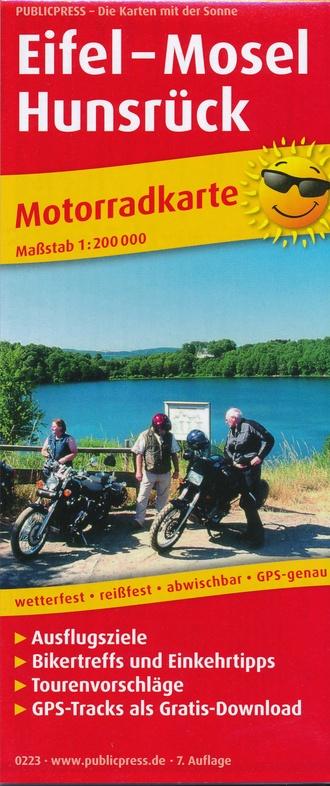 Eifel 1:200.000 motorkaart 9783747302231  Publicpress Motorkaarten - mit der Sonne  Landkaarten en wegenkaarten, Motorsport Eifel