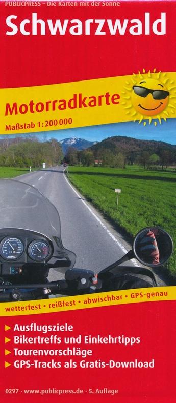 Schwarzwald 1:200.000 motortoerkaart Zwarte Woud 9783747302972  Publicpress Motorradkarten - mit der Sonne  Landkaarten en wegenkaarten, Motorsport Zwarte Woud