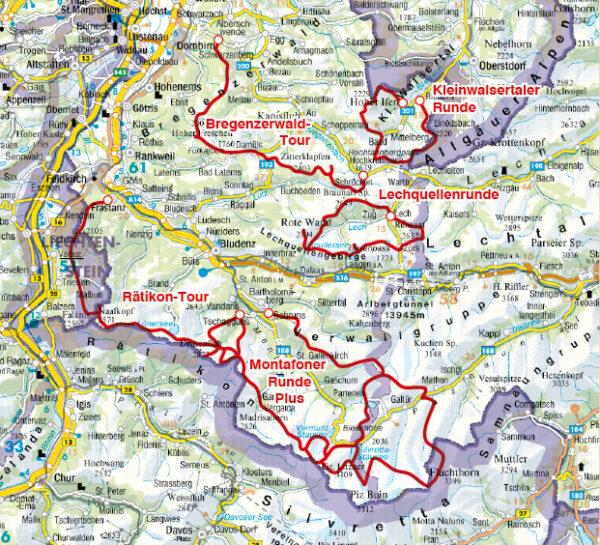 Rother wandelgids Trekking in Vorarlberg | Rother Wanderführer 9783763345557  Bergverlag Rother RWG  Meerdaagse wandelroutes, Wandelgidsen Tirol & Vorarlberg