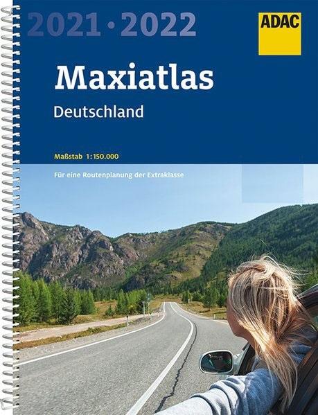 Deutschland Maxi-Atlas 1/150.000, 2021-2022 9783826422638  ADAC Wegenatlassen  Wegenatlassen Duitsland