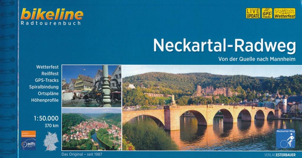 Bikeline Neckartal-Radweg | fietsgids 9783850007849  Esterbauer Bikeline  Fietsgidsen Heidelberg, Kraichgau, Stuttgart, Neckar