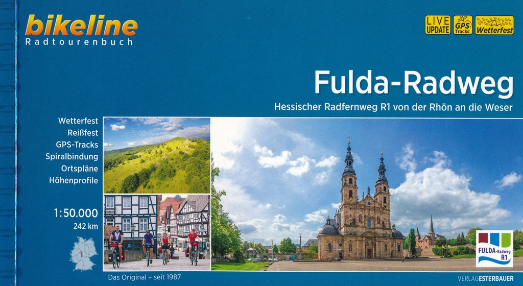 Bikeline Fulda-Radweg | fietsgids 9783850008280  Esterbauer Bikeline  Fietsgidsen Hessen