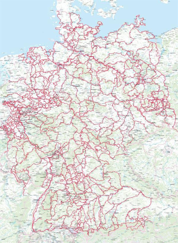 Bikeline RadFernWege Deutschland | fietsgids Duitsland 9783850008587  Esterbauer Bikeline  Fietsgidsen, Meerdaagse fietsvakanties Duitsland