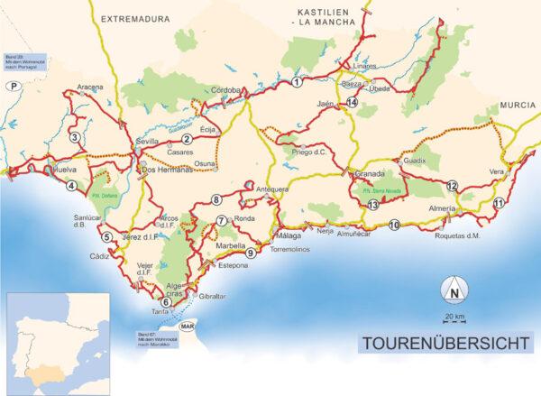 Mit dem Wohnmobil nach Andalusien | campergids Andalusië 9783869034751  Womo   Op reis met je camper, Reisgidsen Andalusië