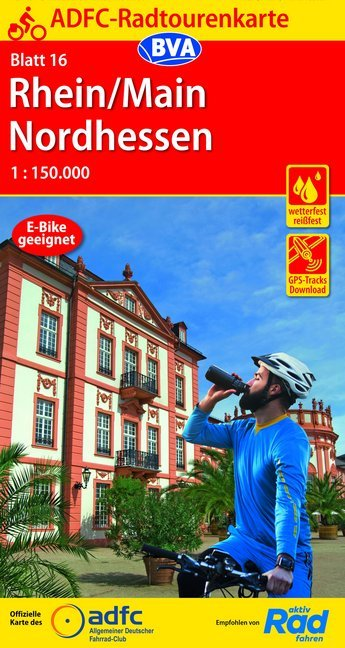 ADFC-16 Rhein/Main/Nordhessen | fietskaart 1:150.000 9783870739485  ADFC / BVA Radtourenkarten 1:150.000  Fietskaarten Hessen