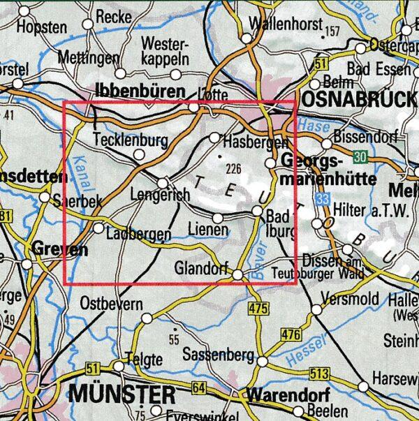 Südliches Tecklenburger Land   wandelkaart 1:25.000 9783897105584  Bonifatius Grüne Reihe  Wandelkaarten Teutoburger Woud & Ostwestfalen