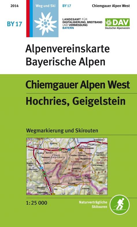 BY-17 Chiemgauer Alpen West, Alpenvereinskarte 9783937530840  Deutscher AlpenVerein Alpenvereinskarten  Wandelkaarten Beierse Alpen