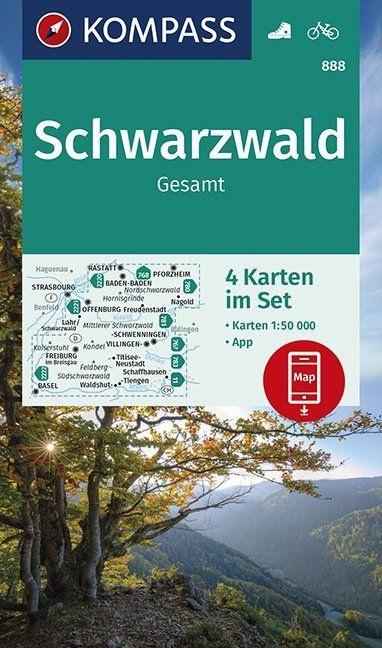 KP-888 Schwarzwald | Kompass wandelkaart Zwarte Woud 9783990447048  Kompass Wandelkaarten Kompass Duitsland  Wandelkaarten Zwarte Woud