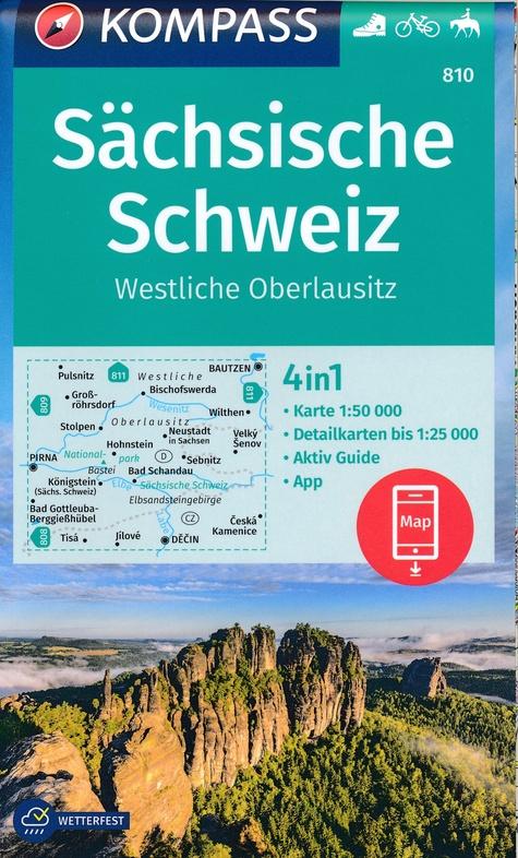 KP-810  Sächsische Schweiz   Kompass wandelkaart 9783990447499  Kompass Wandelkaarten Kompass Duitsland  Wandelkaarten Erzgebirge, Elbsandsteingebirge, Lausitz