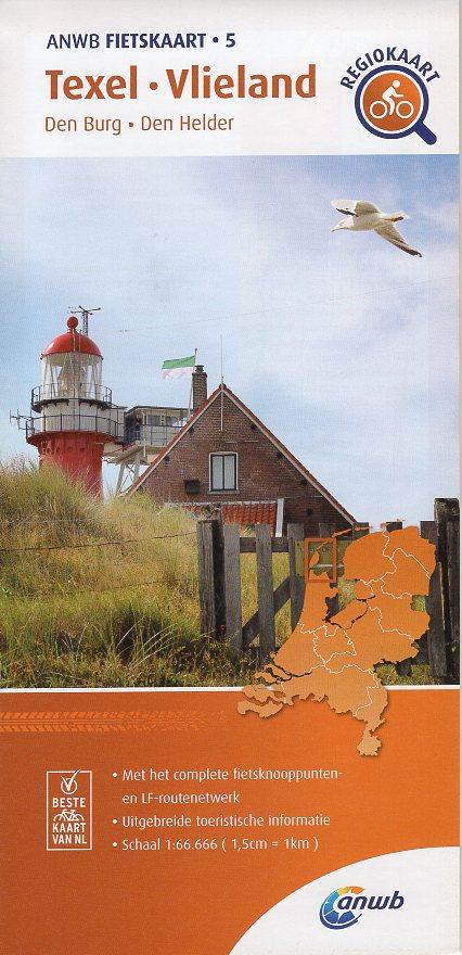 AF-05 Texel / Vlieland | ANWB fietskaart 1:66.666 9789018047061  ANWB ANWB fietskaarten 1:66.666  Fietskaarten Waddeneilanden en Waddenzee