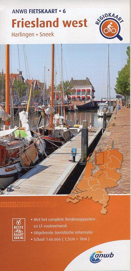 AF-06 Friesland-West | ANWB fietskaart 1:66.666 9789018047078  ANWB ANWB fietskaarten 1:66.666  Fietskaarten Friesland