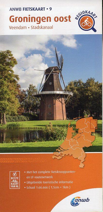 AF-09 Groningen-Oost | ANWB fietskaart 1:66.666 9789018047108  ANWB ANWB fietskaarten 1:66.666  Fietskaarten Groningen