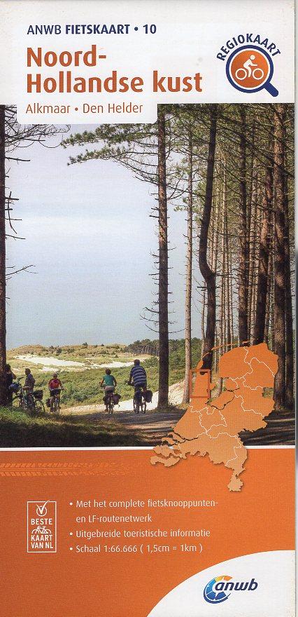 AF-10 Noord-Hollandse Kust | ANWB fietskaart 1:66.666 9789018047115  ANWB ANWB fietskaarten 1:66.666  Fietskaarten Noord-Holland
