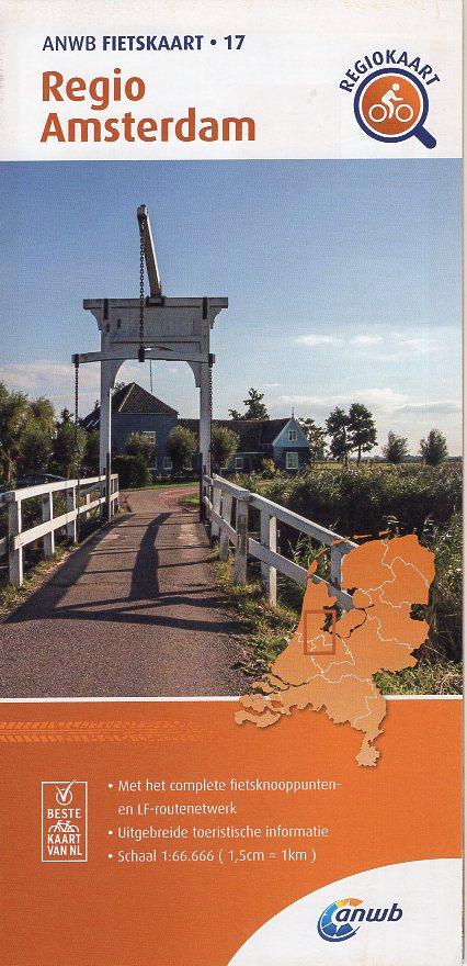 AF-17 Regio Amsterdam | ANWB fietskaart 1:66.666 9789018047184  ANWB ANWB fietskaarten 1:66.666  Fietskaarten Amsterdam, Noord-Holland