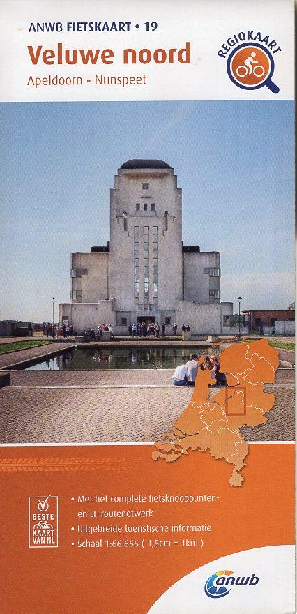 AF-19 Veluwe-Noord | ANWB fietskaart 1:66.666 9789018047207  ANWB ANWB fietskaarten 1:66.666  Fietskaarten Arnhem en de Veluwe
