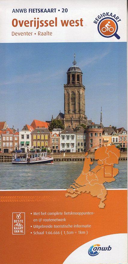 AF-20 Overijssel-West | ANWB fietskaart 1:66.666 9789018047214  ANWB ANWB fietskaarten 1:66.666  Fietskaarten Kop van Overijssel, Vecht & Salland