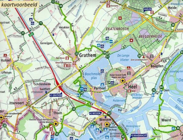 AF-21 Overijssel Oost | ANWB fietskaart 1:66.666 9789018047221  ANWB ANWB fietskaarten 1:66.666  Fietskaarten Twente