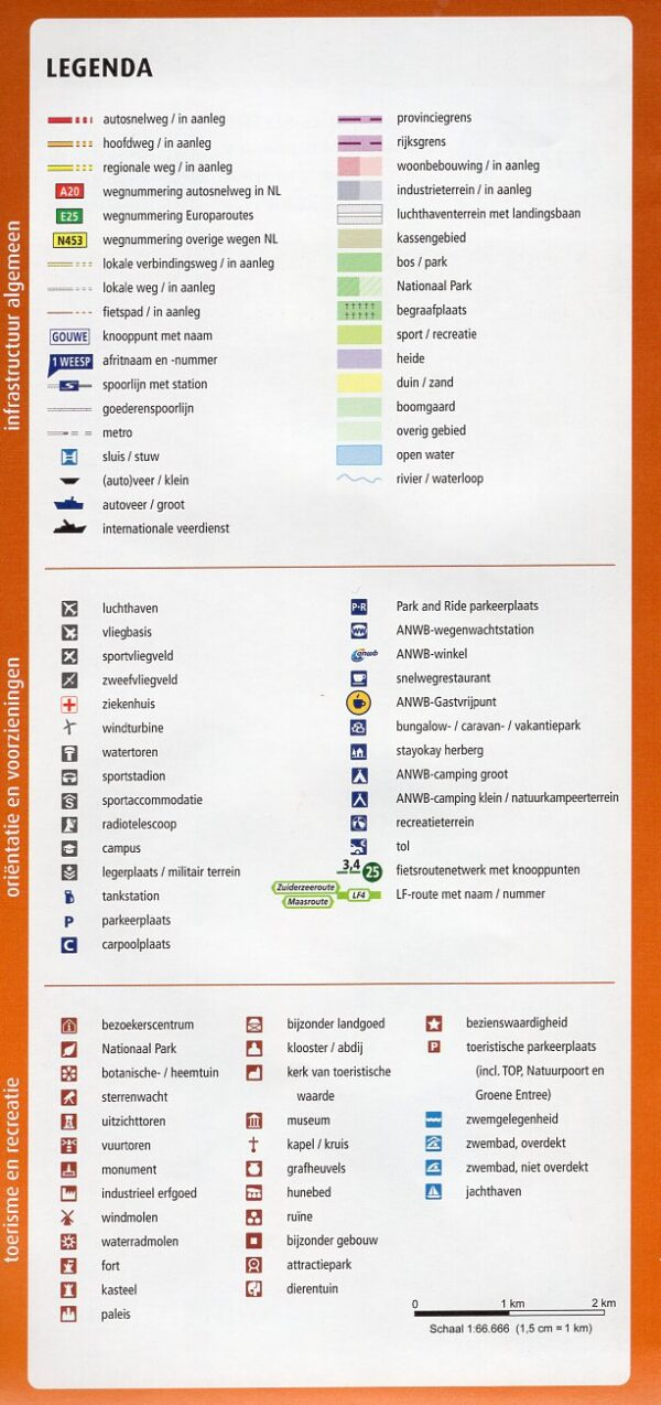 AF-22 Zuid-Hollandse Kust Noord | ANWB fietskaart 1:66.666 9789018047238  ANWB ANWB fietskaarten 1:66.666  Fietskaarten Den Haag, Rotterdam en Zuid-Holland