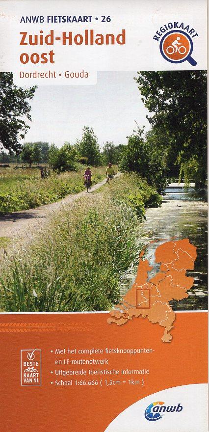 AF-26 Zuid-Holland Oost | ANWB fietskaart 1:66.666 9789018047276  ANWB ANWB fietskaarten 1:66.666  Fietskaarten Den Haag, Rotterdam en Zuid-Holland