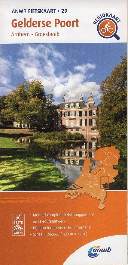 AF-29 Gelderse Poort | ANWB fietskaart 1:66.666 9789018047306  ANWB ANWB fietskaarten 1:66.666  Fietskaarten Arnhem en de Veluwe, Nijmegen en het Rivierengebied
