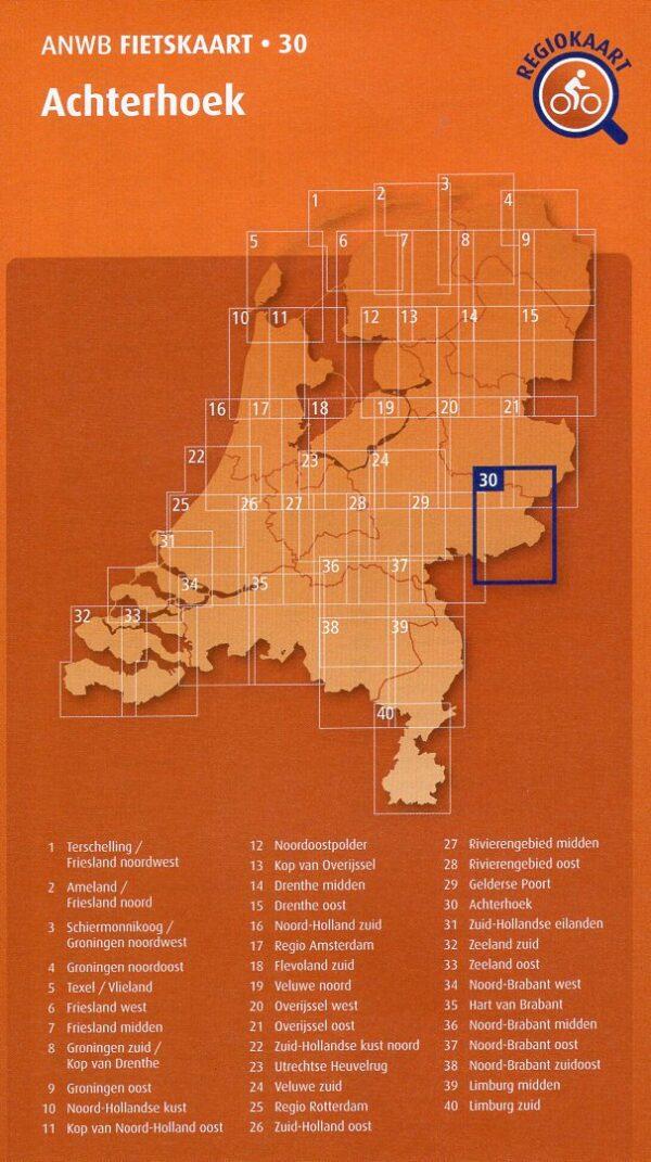 AF-30 Achterhoek | ANWB fietskaart 1:66.666 9789018047313  ANWB ANWB fietskaarten 1:66.666  Fietskaarten Gelderse IJssel en Achterhoek