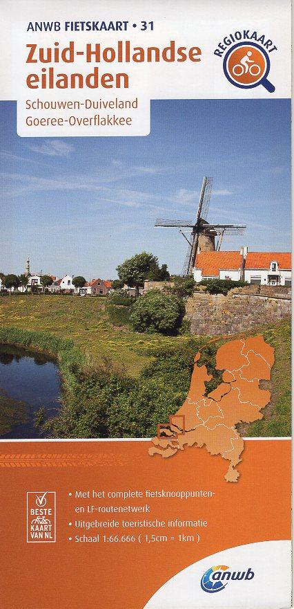 AF-31 Zuid-Hollandse Eilanden | ANWB fietskaart 1:66.666 9789018047320  ANWB ANWB fietskaarten 1:66.666  Fietskaarten Den Haag, Rotterdam en Zuid-Holland, Zeeland