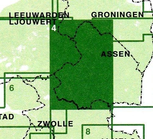 FFK-04  Drenthe-West   VVV fietskaart 1:50.000 9789028701021  Falk Fietskaarten met Knooppunten  Fietskaarten Drenthe