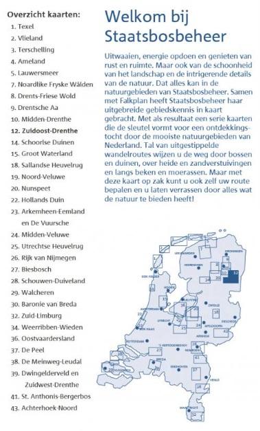 SBB-12  Zuid-Oost Drenthe | wandelkaart 1:25.000 9789028703698  Staatsbosbeheer SBB kaart 1:25.000  Wandelkaarten Drenthe