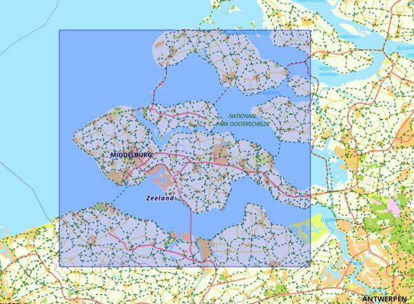 FFK-16  Zeeuwse Eilanden   VVV fietskaart 1:50.000 9789028730571  Falk Fietskaarten met Knooppunten  Fietskaarten Zeeland
