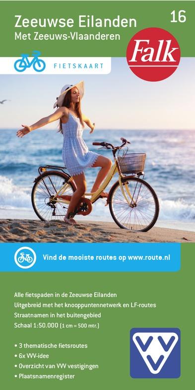 FFK-16  Zeeuwse Eilanden | VVV fietskaart 1:50.000 9789028730571  Falk Fietskaarten met Knooppunten  Fietskaarten Zeeland