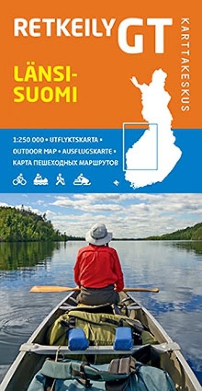 GT Tiekartta Länsi-Suomi  | West-Finland 1:250.000 9789522663412  Genimap Oy   Landkaarten en wegenkaarten Finland