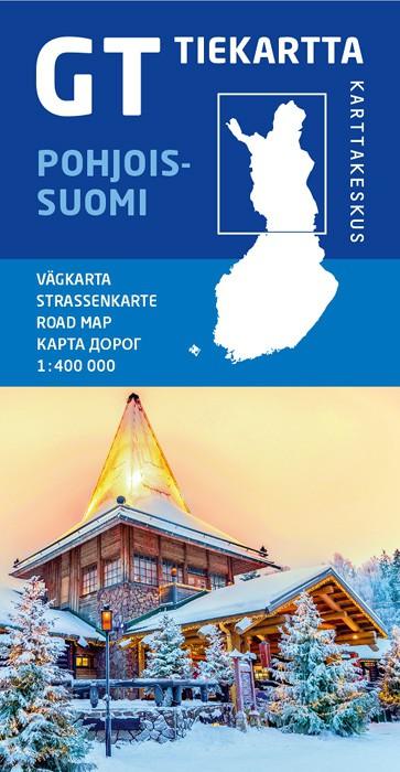 GT-Outdoor Map Pohjois-Suomi (Noord Finland) 1:400.000 9789522665768  Genimap Oy   Landkaarten en wegenkaarten Finland