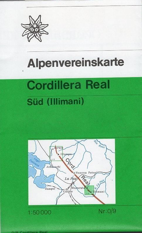 AV-0/09 Cordillera Real Süd [1990] Alpenvereinskarte wandelkaart AV09  AlpenVerein Alpenvereinskarten  Wandelkaarten Bolivia