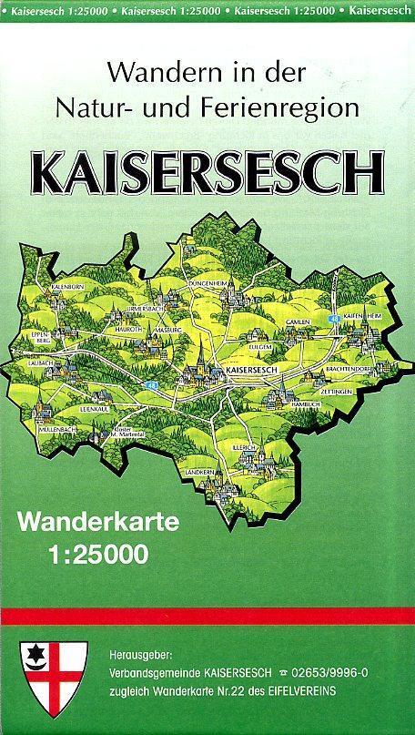 EV-22  Kaisersesch | wandelkaart 1:25.000 EV22  Eifelverein Wandelkaarten Eifel  Wandelkaarten Eifel