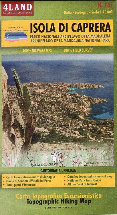 IM-161  Isola di Caprera | wandelkaart 1:25.000 IM161  Idea Montagna 4LAND  Wandelkaarten Sardinië