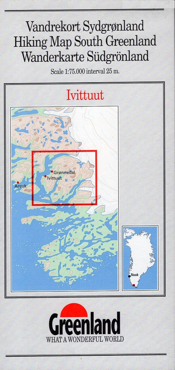 GHM-04  Ivittuut 1:75.000 0257037  Kort-og Matrikelstyrelsen Greenl. Hiking Maps  Wandelkaarten Groenland