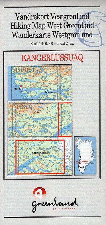 GHM-08  Kangerlussuaq 1:100.000 0257047  Kort-og Matrikelstyrelsen Greenl. Hiking Maps  Wandelkaarten Groenland
