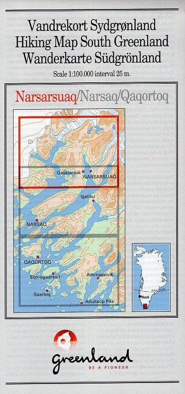 GHM-01  Narsarsuaq 1:100.000 0257067  Kort-og Matrikelstyrelsen Greenl. Hiking Maps  Wandelkaarten Groenland