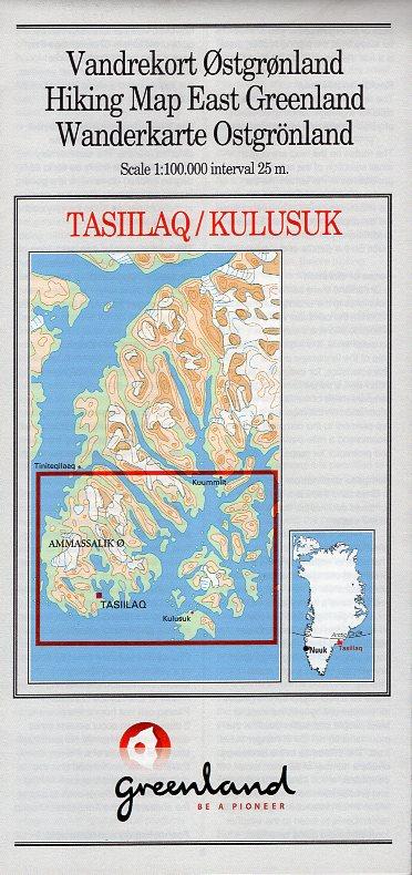 GHM-06  Tasiilaq / Kulusuk (Ammassalik) 0257070  Kort-og Matrikelstyrelsen Greenl. Hiking Maps  Wandelkaarten Groenland
