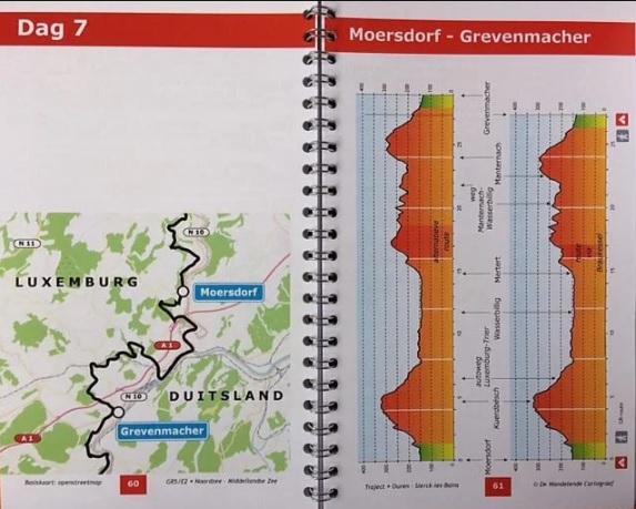 GR-5/E2 traject 2: Luxemburg 428422947770  De Wandelende Cartograaf   Meerdaagse wandelroutes, Wandelgidsen Luxemburg