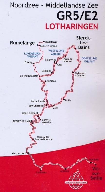 GR-5/E2 traject 3: Lotharingen 429693215100  De Wandelende Cartograaf   Meerdaagse wandelroutes, Wandelgidsen Lotharingen, Nancy, Metz