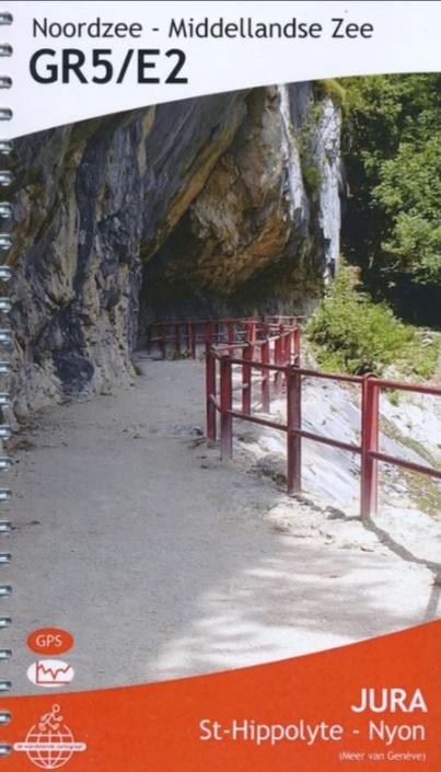 GR-5/E2 traject 6: Jura (St-Hippolyte - Nyon)  wandelgids GR5 429928056966  De Wandelende Cartograaf   Lopen naar Rome, Meerdaagse wandelroutes, Wandelgidsen Franse Jura