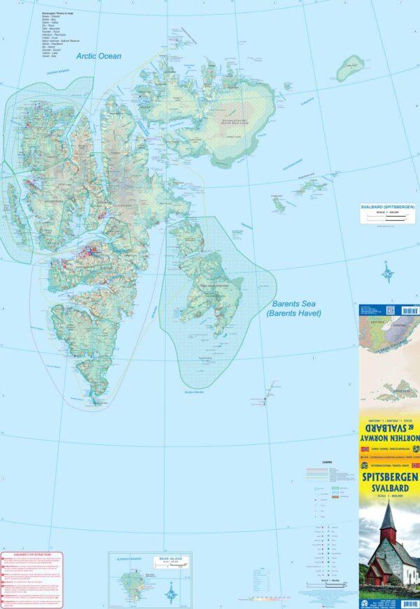 Svalbard (Spitsbergen) overzichtskaart 1:800.000 9781771297219  ITM   Landkaarten en wegenkaarten Noorwegen boven de Sognefjord, Spitsbergen, Jan Mayen, Noordpool