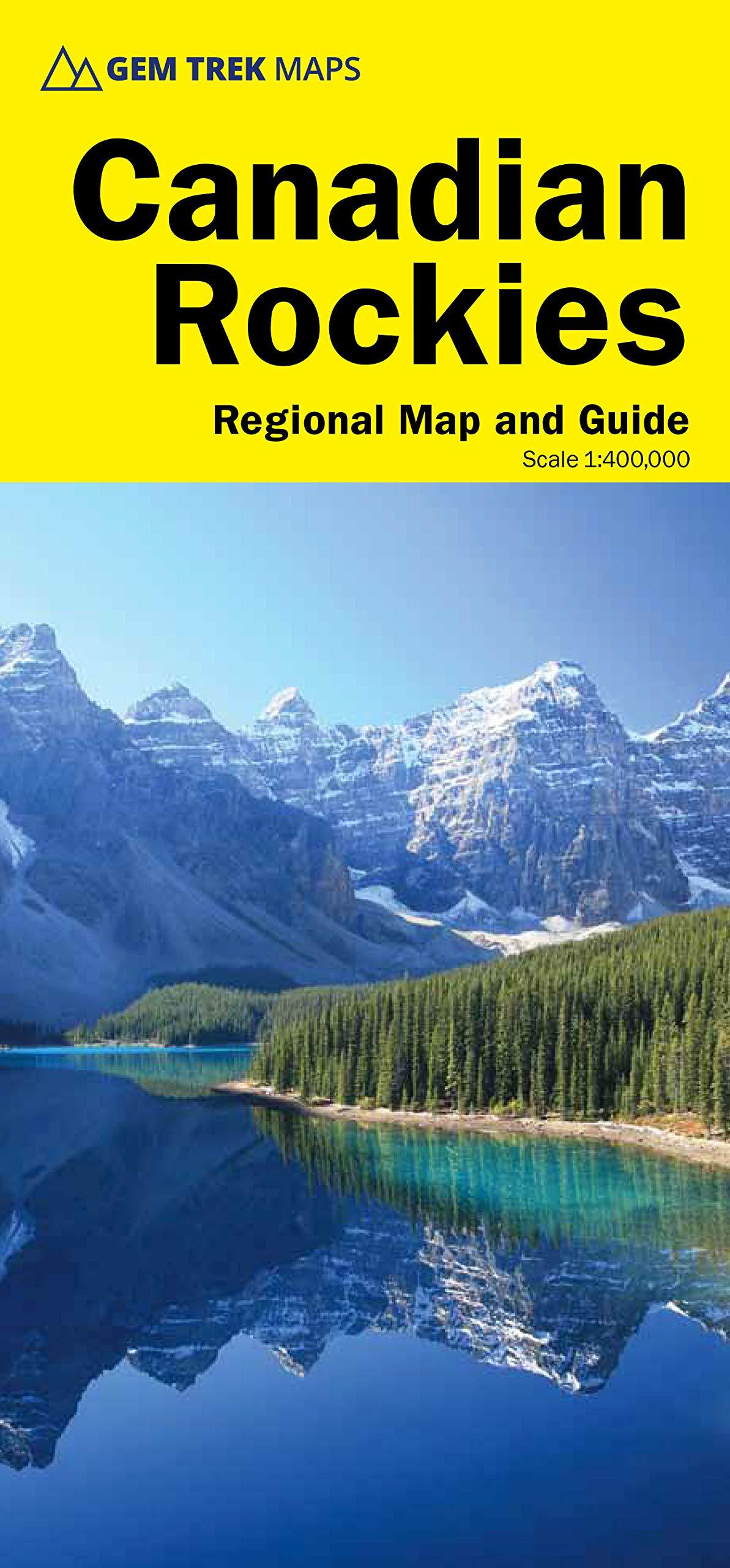 Canadian Rockies 1:400.000 9781895526929  Gem Trek Publishing Explorer's Map and guide  Landkaarten en wegenkaarten West-Canada, Rockies