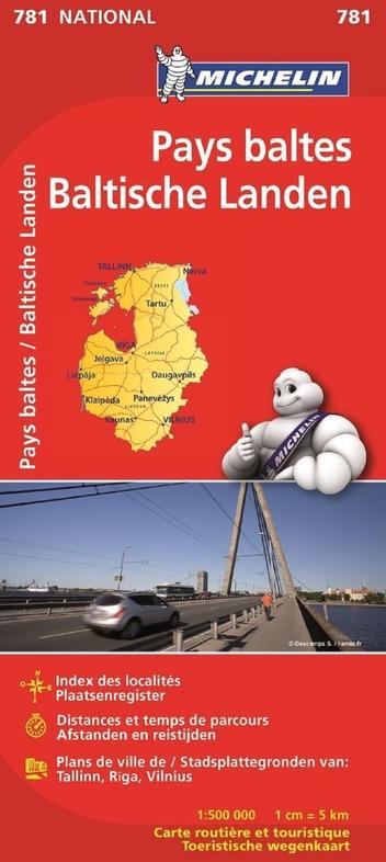 781 Baltische Staten 1:500.000 9782067173781  Michelin Michelin 1:500.000  Landkaarten en wegenkaarten Baltische Staten en Kaliningrad