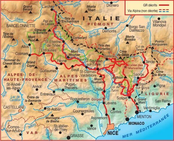 GR-5 | TG-507 Traversée du Mercantour | wandelgids GR5 9782751410727  FFRP topoguides à grande randonnée  Meerdaagse wandelroutes, Wandelgidsen Côte d'Azur, Franse Alpen: zuid