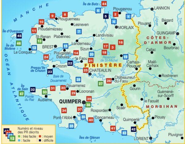 D029  Finistère à pied | wandelgids 9782751410888  FFRP Topoguides  Wandelgidsen Bretagne